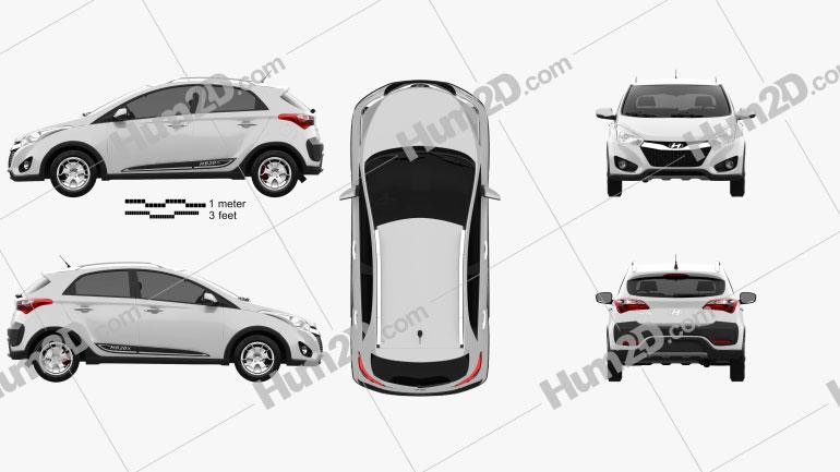 Hyundai HB20X 2013 Clipart Image