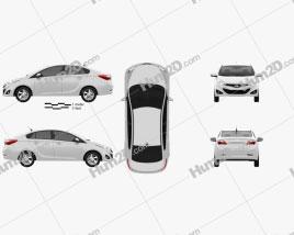 Hyundai HB20S 2013 car clipart