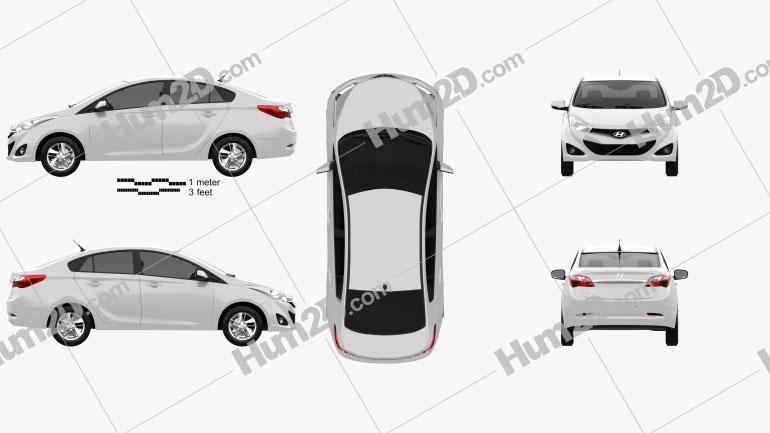 Hyundai HB20S 2013 Clipart Image
