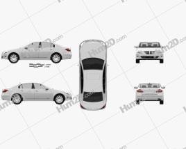 Hyundai Genesis sedan 2012 car clipart