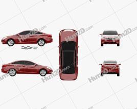 Hyundai Sonata (i45) 2012 car clipart