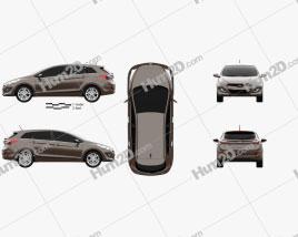 Hyundai i30 5-türig wagon (EU) 2013 car clipart