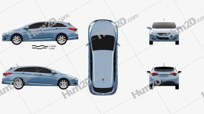 Hyundai i40 Tourer EU 2012 car clipart