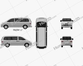Hyundai H-1 Passenger Van 1997 clipart