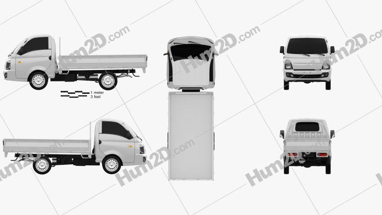 Hyundai HR Flatbed Truck 2013 clipart