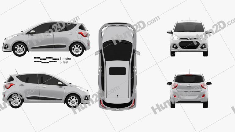 Hyundai i10 2014 Clipart Image