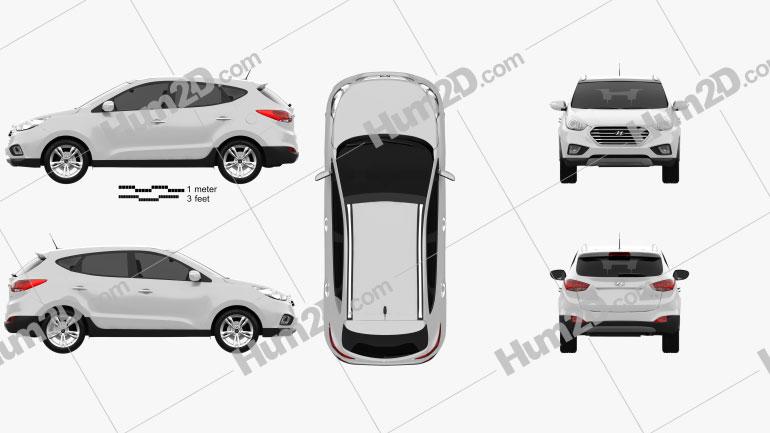 Hyundai Tucson (ix35) Fuel Cell 2012 car clipart