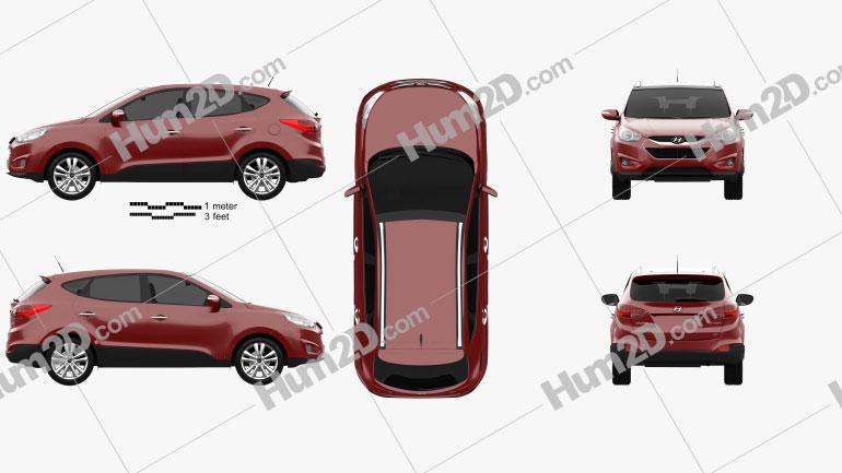 Hyundai Tucson (ix35) US 2010 car clipart