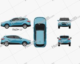 Hyundai Tucson (ix35) 2013 car clipart