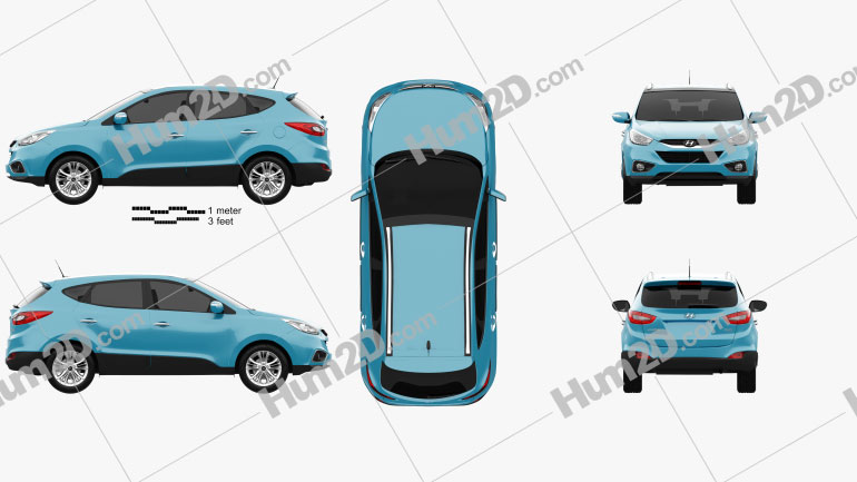 Hyundai Tucson (ix35) 2013 Clipart Image