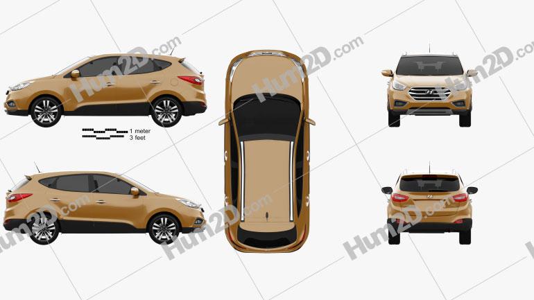 Hyundai Tucson (ix35) Korea 2013 car clipart