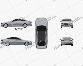 Hyundai Genesis (Rohens) 2015 car clipart