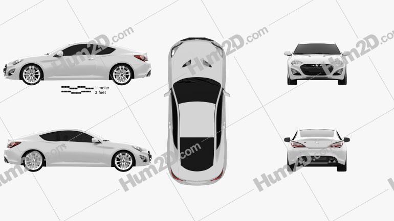 Hyundai Genesis coupe 2012 Clipart Image