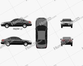 Hyundai Sonata (NF) 2008 car clipart