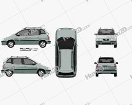 Hyundai Matrix (Lavita) 2001 Clipart
