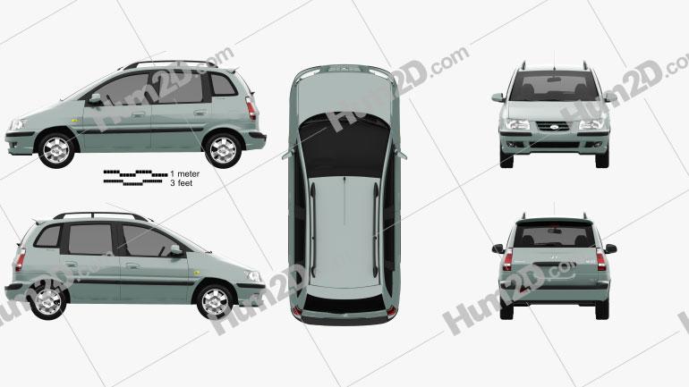 Hyundai Matrix (Lavita) 2001 Clipart Image