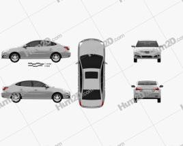 Hyundai Elantra Yue Dong 2011 car clipart