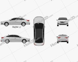 Hyundai Sonata (LF) 2015 Clipart