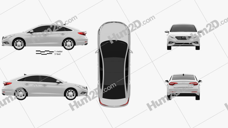 Hyundai Sonata (LF) 2015 Clipart Image