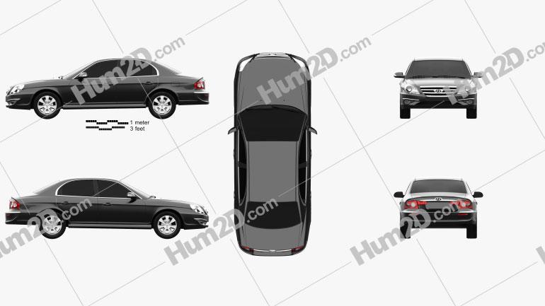Hyundai Sonata Moinca (CN) 2009 Clipart Image