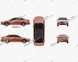 Hyundai Sonata (US) 2015 car clipart