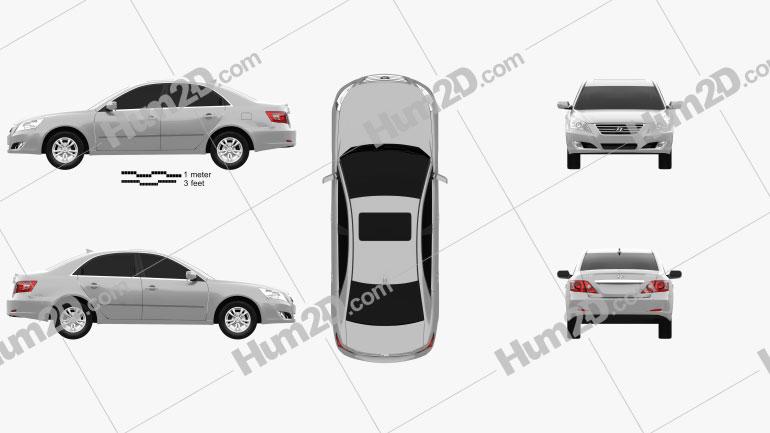 Hyundai Sonata Ling Xiang (CN) 2008 Clipart Image