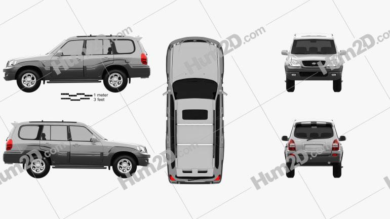 Hyundai Terracan 2004 Clipart Bild