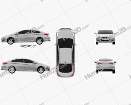 Hyundai i40 sedan (EU) 2012 car clipart