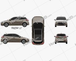 Hyundai Elite i20 2014 Clipart