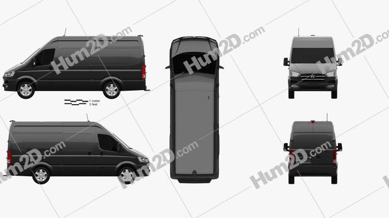 Hyundai H350 Panel Van 2015 clipart