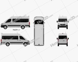Hyundai H350 Passenger Van 2015 Clipart