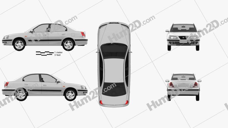Hyundai Elantra (XD) 2003 car clipart