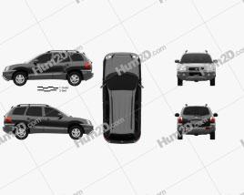Hyundai Santa Fe (SM) 2004 Clipart