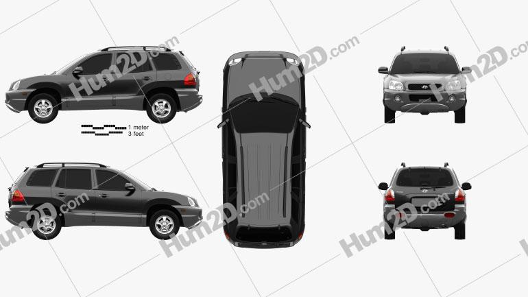Hyundai Santa Fe (SM) 2004 Clipart Image