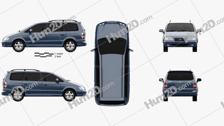 Hyundai Trajet 2004 Clipart Image
