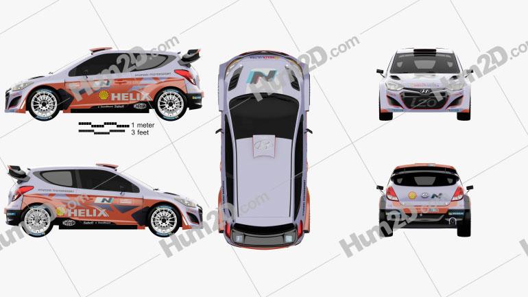 Hyundai i20 WRC 2012 car clipart