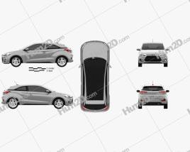 Hyundai i20 Coupe 2015 car clipart
