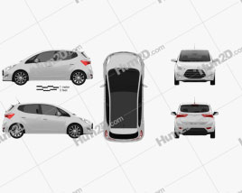 Hyundai ix20 2015 car clipart