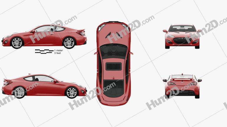 Hyundai Genesis coupe with HQ interior 2014 car clipart