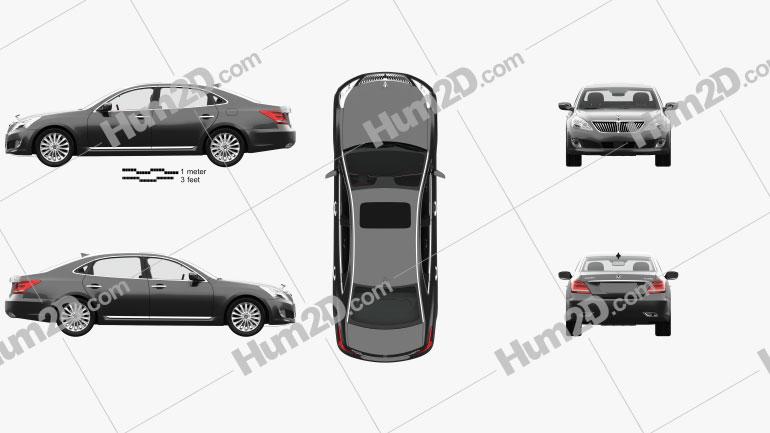 Hyundai Equus (Centennial) with HQ interior 2014 Clipart Image