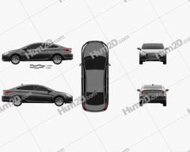 Hyundai i40 sedan 2015 car clipart