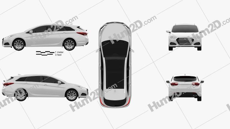 Hyundai i40 wagon 2015 car clipart