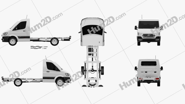 Hyundai H350 Cab Chassis 2015 clipart