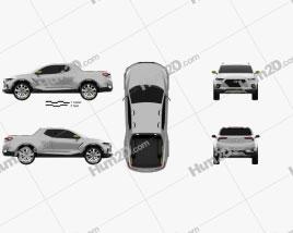 Hyundai Santa Cruz Crossover Truck 2015 car clipart