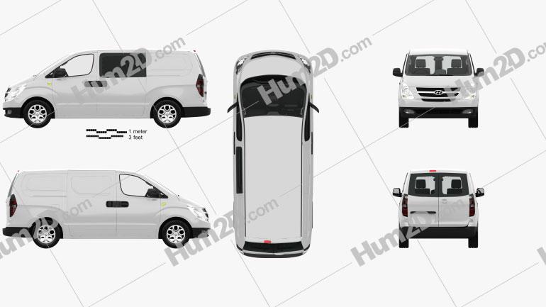 Hyundai iLoad with HQ interior 2010 clipart