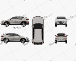Hyundai Tucson 2016 car clipart