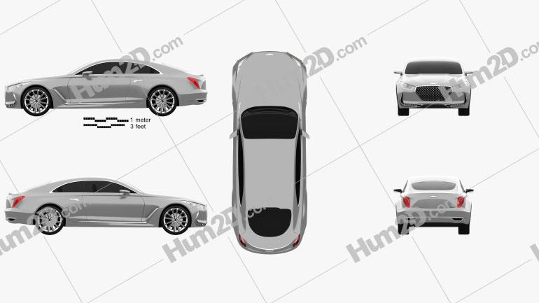 Hyundai Vision G 2015 Clipart Bild