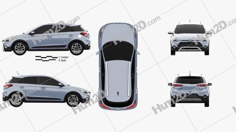 Hyundai i20 Active 2015 car clipart