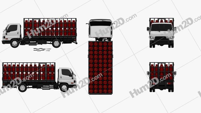 Hyundai HD65 Gas Bottle Truck 2012 clipart