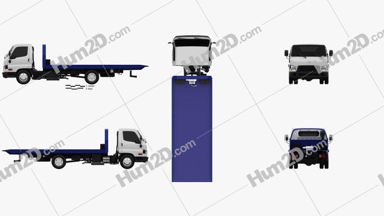 Hyundai HD65 Tow Truck 2012 clipart